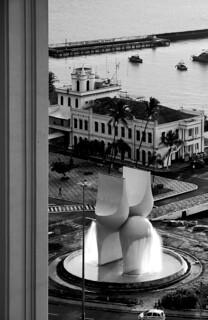 Imagine de Mario Cravo. cidade brasil centro pb escultura bahia salvador 2009 maio elevador bumbum comércio mariocravo centrodesalvador praçaviscondedecairu