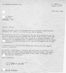 Letter from Sir Laurence