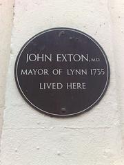 Photo of John Exton bronze plaque