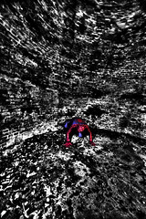 Cornered Spiderman when the end of level boss prepares the big attack