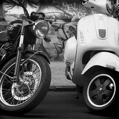 Motorcycle and Vespa