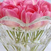 Pink Tulips In Glass Bowl