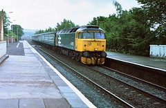47118 arrives at Ladybank on the 29th July 1986 with the 1015 Edinburgh Dundee.  By this time 47's were sharing the duties with the Class 27's. This was my last 47 for sight of the 508 which made it to my spotting days....