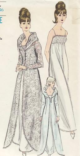 Vintage sewing pattern glamorous 1960s gown dress for Vintage wedding dress patterns free