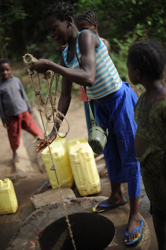 Fetching water from the well
