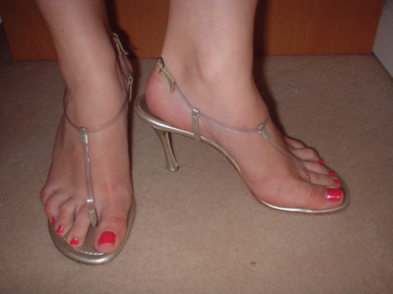 heels thongs high Clear