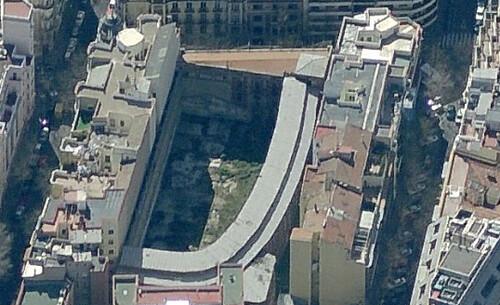 Imagen aérea del fronton