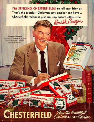 Ronald Reagan sends out smokes
