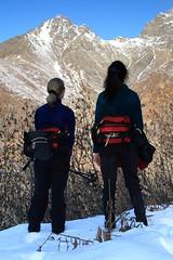 snowshoe(0.0), footwear(0.0), walking(0.0), sports(0.0), ski touring(0.0), extreme sport(0.0), climbing(0.0), nordic skiing(0.0), adventure(1.0), mountain(1.0), winter(1.0), recreation(1.0), snow(1.0), outdoor recreation(1.0), mountaineering(1.0), mountain range(1.0), backpacking(1.0), summit(1.0), ridge(1.0), mountain guide(1.0), hiking(1.0), mountainous landforms(1.0),