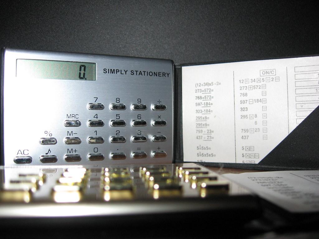Credit Card Sized Calculator. Circa. 2009