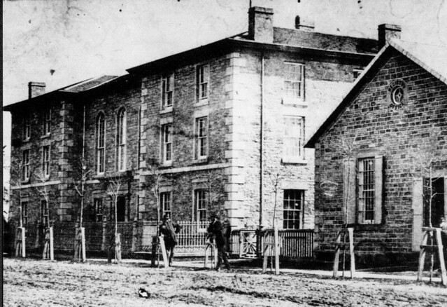 Early view of the Lambton County Courthouse and registry office.