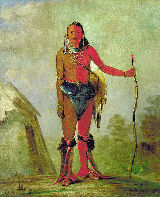 Native American George Catlin Aih-no-wa, The Fire, a Fox ...