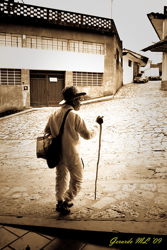 Vendedor en Cuetzalan Puebla