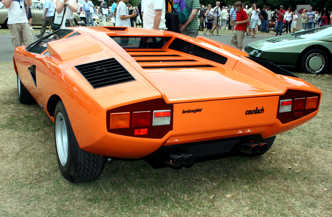 1976 Lamborghini Countach Lp400 Periscopica Rear Flickr
