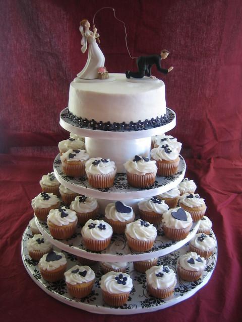 Kandaces Blog Wedding Cupcake Tower With Fondant
