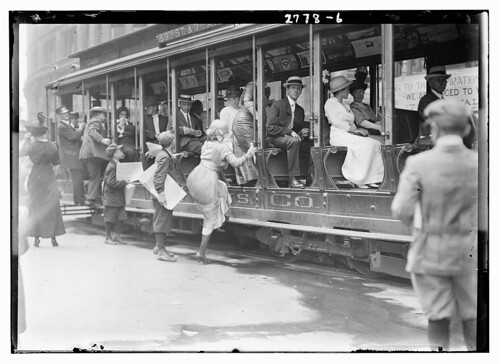 [Entering street car ?]  (LOC)