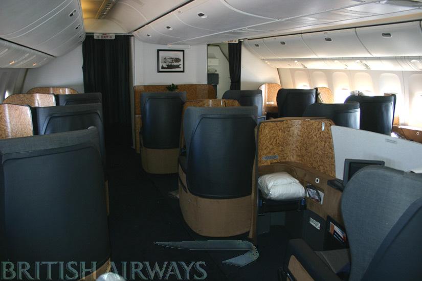 1990s onwards - British Airways Boeing B777 First cabin