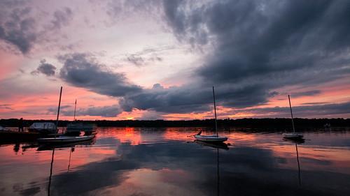 sunset wisconsin sailboat sunfish lakepokegama minong birchtrail