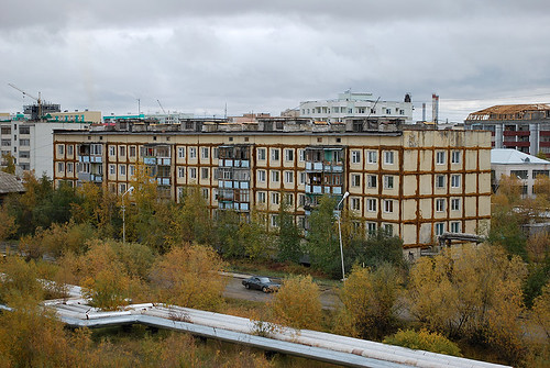 street autumn winter buildings russia north siberia winteriscoming yakutsk yakutia republicofsakha