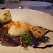 Uovo (slow poached egg, monkfish cheeks, mushroom ragu, garlic chips) @ Marea
