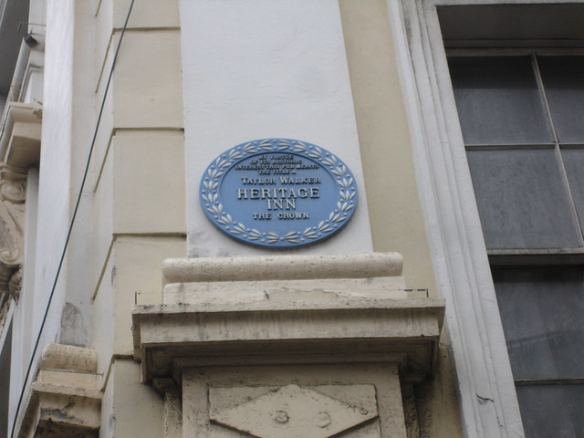 Blue plaque № 1958 - By virtue  of its historic  interest this pub merits  the title a  Taylor Walker  Heritage  Inn  The Crown