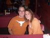 Brent and I at Rhodeside Grill, cheering on the Longhorns