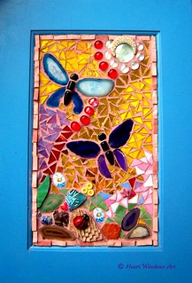 Agate butterfly mosaic grouted!