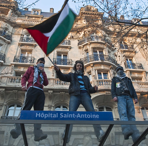 Paris Protest in Support of Palestinians in Gaza