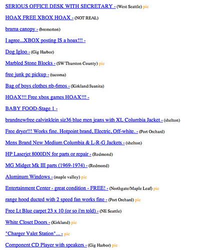 Seattle Free Stuff On Craigslist Flickr Photo Sharing