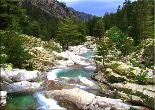 Paysage de montagne en Corse