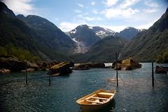 Bondhusvannet with the glacier