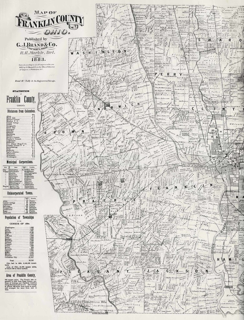 Map Of Franklin County Ohio 1883 This 1883 Map Of Frankl Flickr