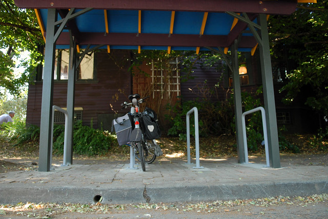 residential bike parking shelter in SE Portland-13