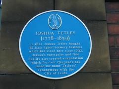 Photo of Joshua Tetley blue plaque