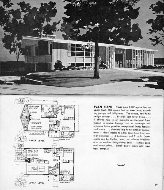 Split foyer home designs floor plans for Split foyer house plans