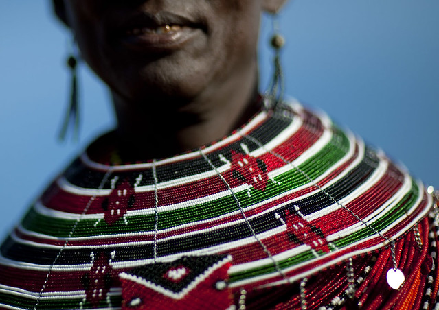 National flag on bead necklaces - Kenya