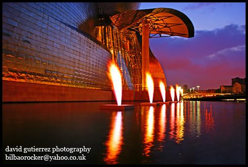 The Bilbao Guggenheim on Fire