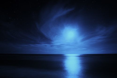 Cloud Angel In The Night Sky