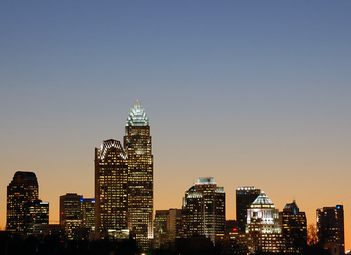 city urban building tower skyline night skyscraper evening nc downtown day charlotte dusk central northcarolina center queen clear uptown highrise cbd qc clt 61909ngc