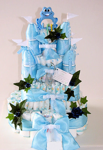 Royal Prince Baby Shower Diaper Cake