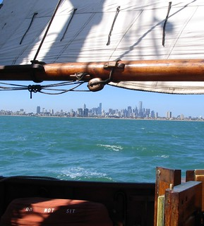 Melbourne from a sailing ship | by Daniel Bowen