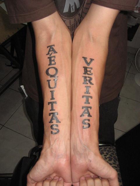 Aequitas veritas flickr photo sharing for Veritas aequitas tattoos
