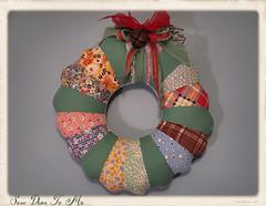 art, pattern, textile, christmas decoration, wreath,