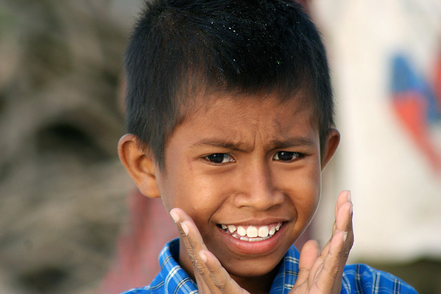 Portrait of a boy in Timor, Indonesia.