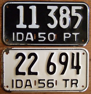IDAHO 1950 and 1956 ---PRIVATE TRAILER plates