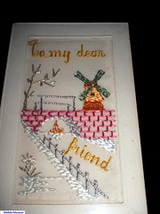 Embroidered Silk Card