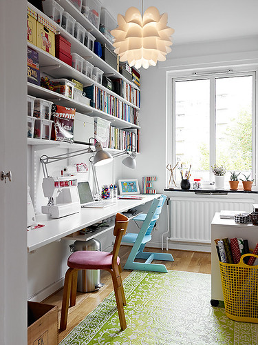Green is the new black more storage needed for Craft and sewing room ideas