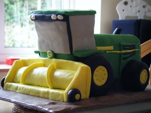 John Deere forage harvester birthday cake