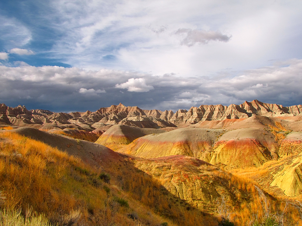 near yellow mounds overlook  badlands national park