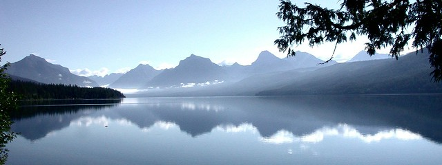 Lake McDonald reflection - Glacier NP